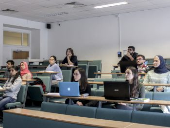Aston University SMARTNET students attending Machine Learning lectures